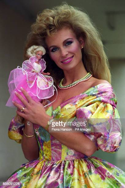 Secretary Hayley Spicer from Bournemouth in London today after being unveiled as the real life 'Barbie' in a nationwide competition to find the...