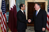 DC: Secretary Of State Mike Pompeo Hosts Qatari Delegation At State Department
