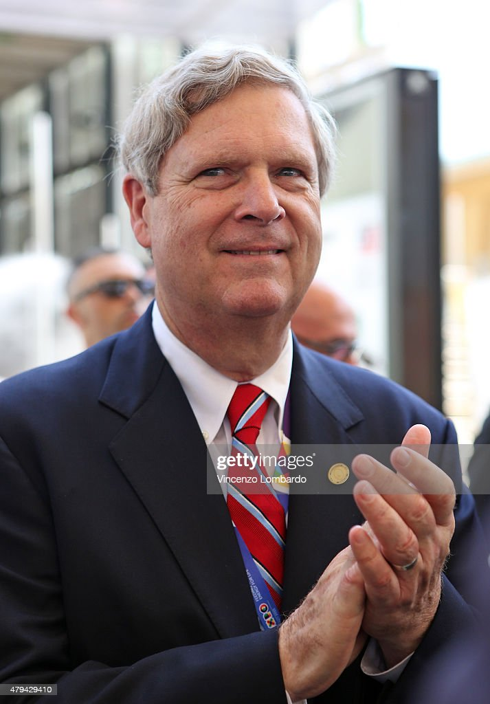 Secretary of Agriculture <a gi-track='captionPersonalityLinkClicked' href=/galleries/search?phrase=Tom+Vilsack&family=editorial&specificpeople=681029 ng-click='$event.stopPropagation()'>Tom Vilsack</a> attends the official opening of the National Day USA at Expo on July 4, 2015 in Milan, Italy.