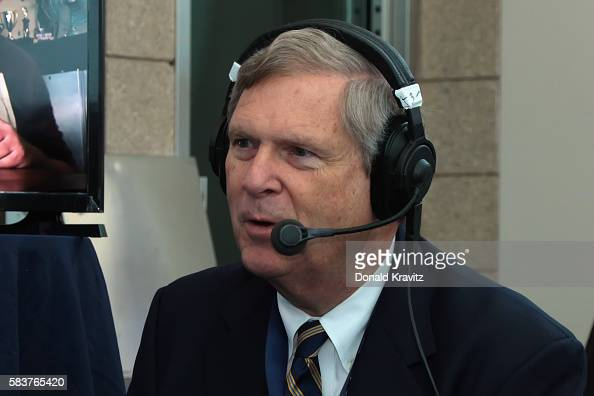 Secretary of Agriculture Tom Vilsack is a guest on SiriusXM The Agenda with Ari RabinHavt on July 27 2016 in Philadelphia Pennsylvania