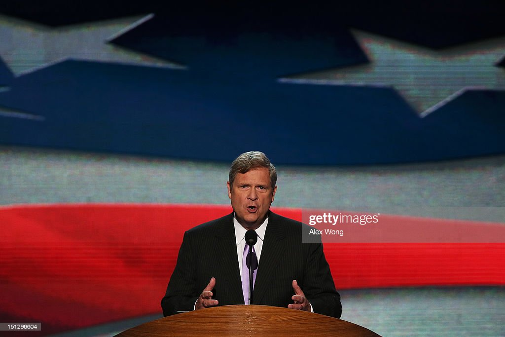 U.S. Secretary of Agriculture Tom Vilsack speaks during day two of the Democratic National Convention at Time Warner Cable Arena on September 5, 2012 in Charlotte, North Carolina. The DNC that will run through September 7, will nominate U.S. President Barack Obama as the Democratic presidential candidate.