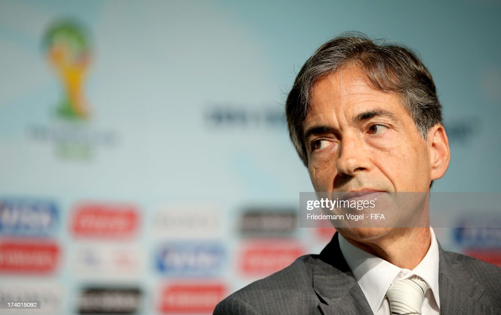 Secretary of Brazil Sports Ministry Luis Fernandes attends the media briefing to announce the ticketing strategy for the 2014 FIFA World Cup at the Hotel Renaissance on July 19, 2013 in Sao Paulo, Brazil.
