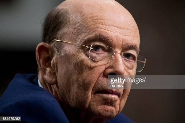 Secretary of Commerce nominee Wilbur Ross Senate testifies during his confirmation hearing in the Commerce Science and Transportation Committee on...