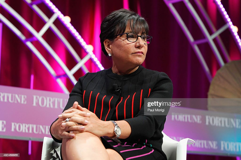 U.S. Secretary of Commerce Penny Pritzker speaks onstage during Fortune's Most Powerful Women Summit - Day 2 at the Mandarin Oriental Hotel on October 13, 2015 in Washington, DC.