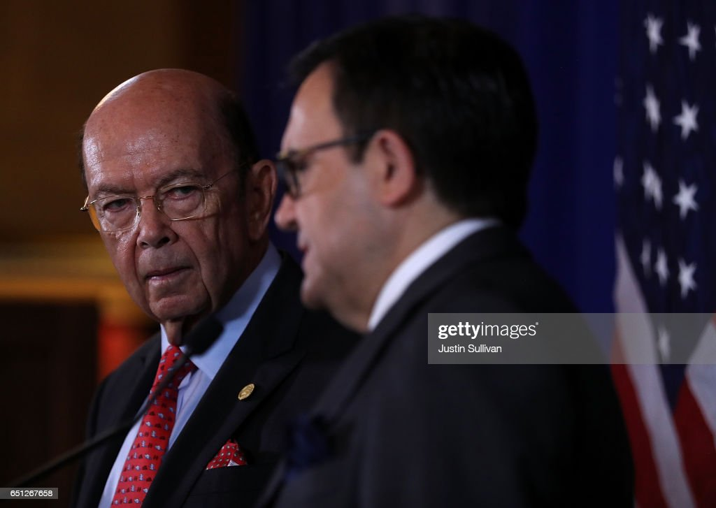 Commerce Secretary Ross Holds Press Conf. With Mexico's  Minister Of Economy