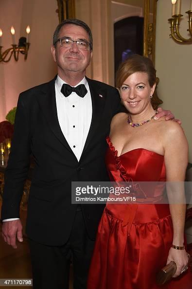 Secretary of defense ashton carter and stephanie carter attend the