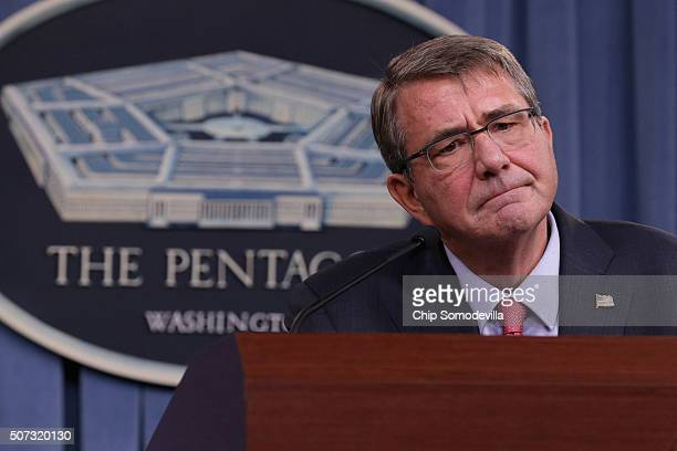 S Secretary of Defense Ashton Carter announces new regulations that the military hopes will increase retention of troops that want to have families...