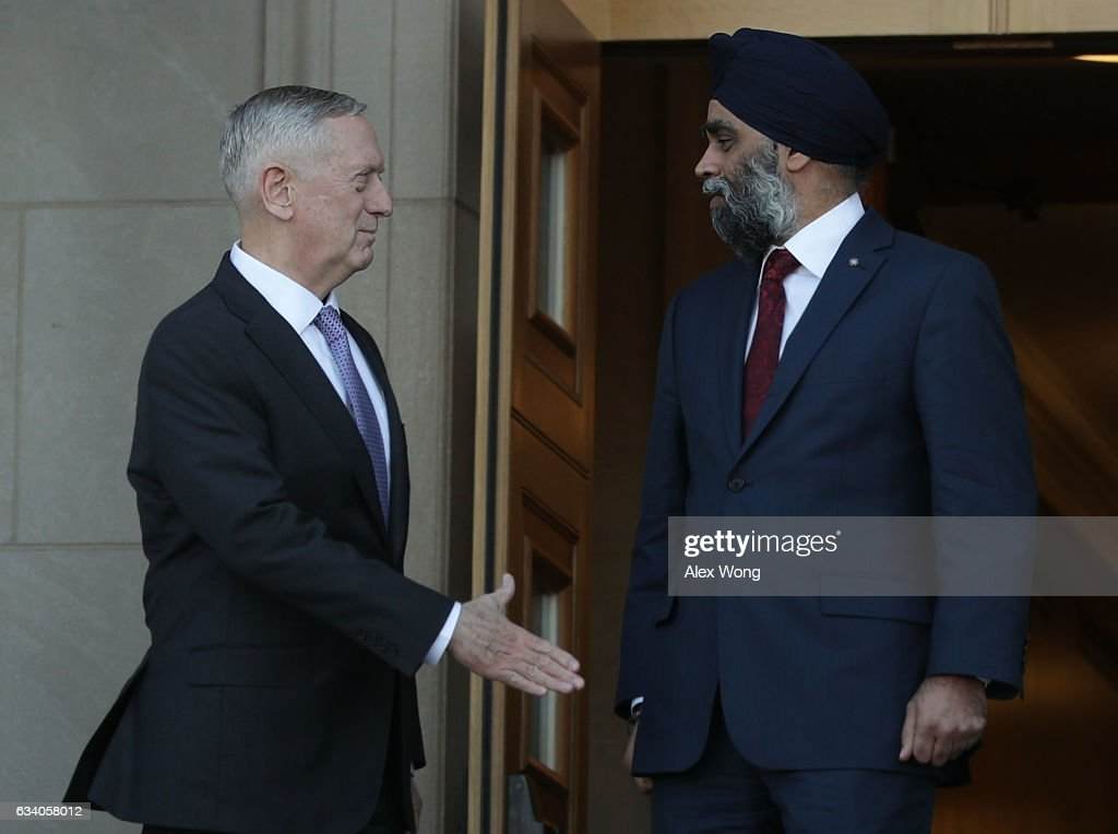 Defense Secretary Mattis Hosts Canadian Counterpart At The Pentagon