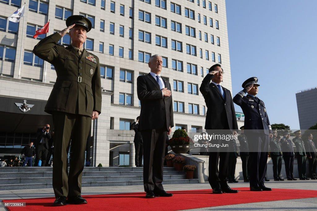 US Defense Secretary James Mattis Hold Security Consultative With South Korean Defense Minister
