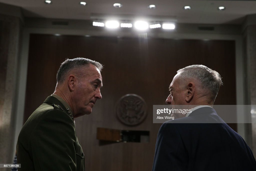 Defense Secretary Mattis And Joint Chiefs Of Staff Chairman Dunford Testify To Senate Armed Services Hearing On Afghanistan