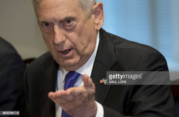 US Secretary of Defense Jim Mattis speaks about the deaths of four US soldiers in Niger earlier this month as he meets with his Israeli counterpart...