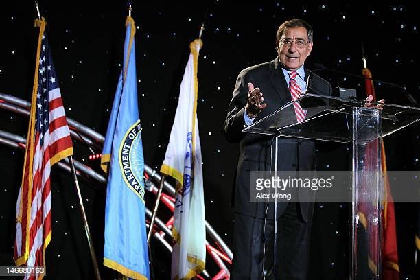 S Secretary of Defense Leon Panetta addresses the annual Department of Defense/Veterans Administration Suicide Prevention Conference June 22 2012 in...