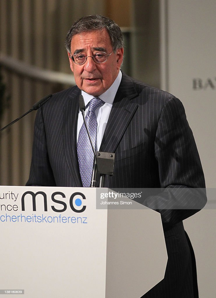 US Secretary of Defense Leon Panetta delivers a speech during day 2 of the 48th Munich Security Conference at Hotel Bayerischer Hof on February 4, 2012 in Munich, Germany. The 48th Munich conference on security policy is running till February 5, 2012.