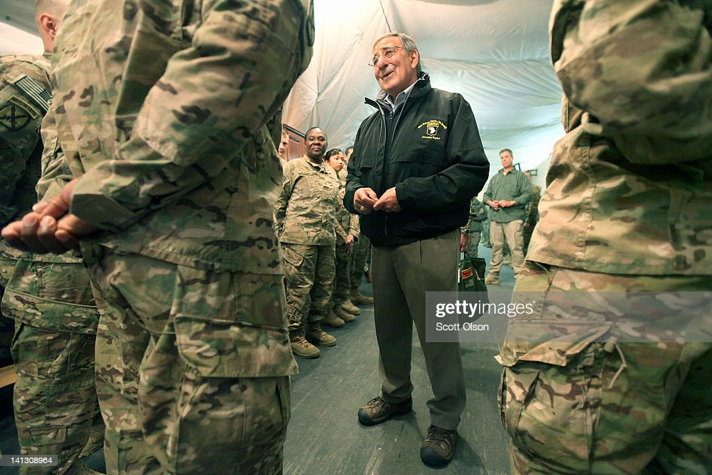 Defense Secretary Panetta Visits Kyrgyzstan