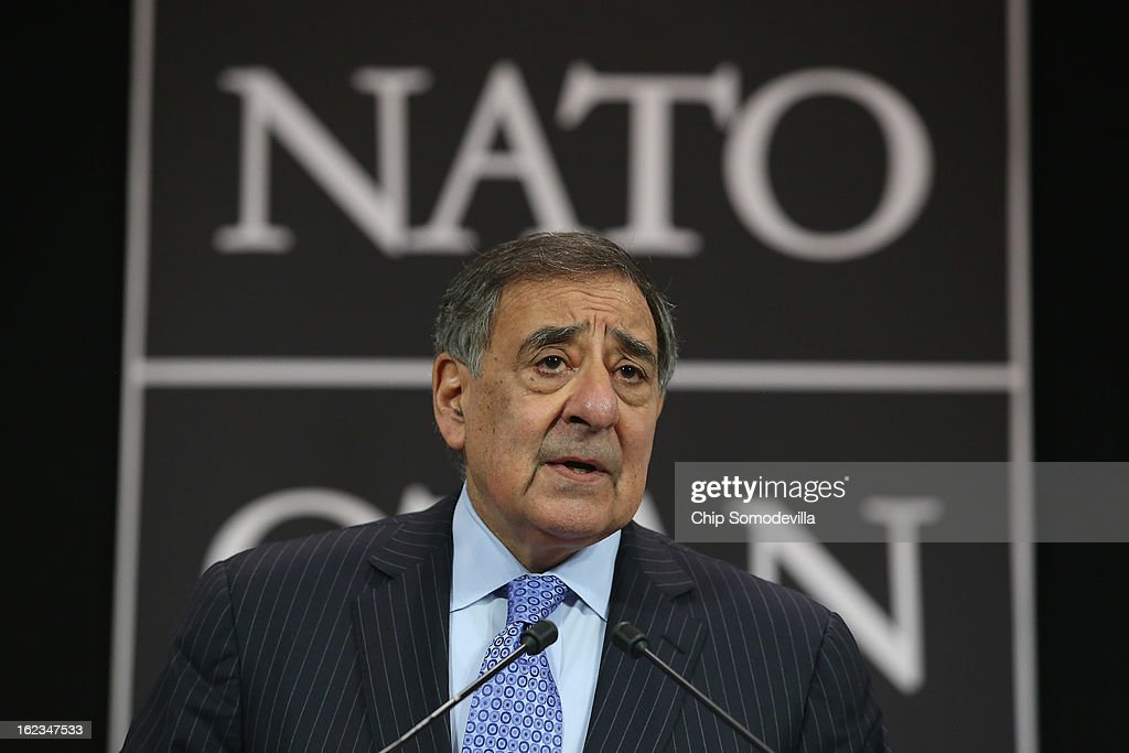 Leon Panetta Attends NATO Meetings In Brussels