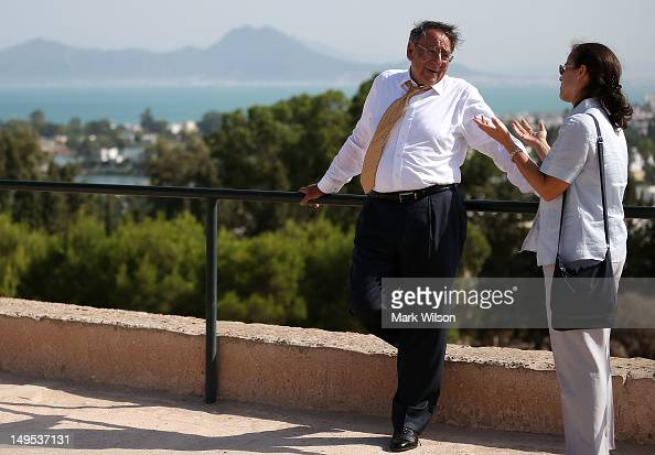 S Secretary of Defense Leon Panetta is given a tour of the Carthage ruins on July 30 2012 in Carthage Tunisia Secretary Panetta is on a five day trip...