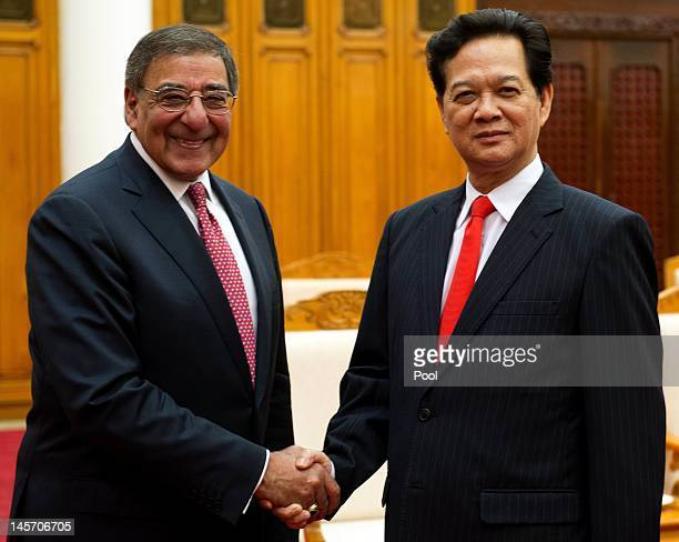 Secretary of Defense Leon Panetta meets with Vietnamese Prime Minister Nguyen Tan Dung during a meeting at the Prime Minister's office on June 4 2012...