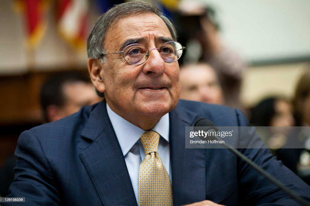 Secretary of Defense Leon Panetta testifies before the House Committee on Armed Services on Capitol Hill on October 13, 2011 in Washington, DC. The hearing focused on the future of national defense ten years after the September 11 terrorist attacks.