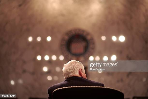 US Secretary of Defense nominee Robert Gates during his confirmation hearing with the Senate Armed Services Committee on Capitol Hill in Washington DC