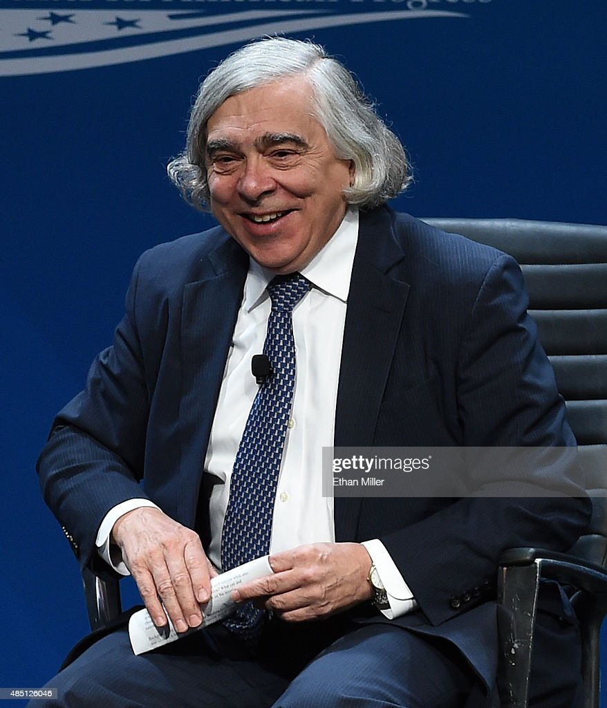 U.S. Secretary of Energy <a gi-track='captionPersonalityLinkClicked' href=/galleries/search?phrase=Ernest+Moniz&family=editorial&specificpeople=7551550 ng-click='$event.stopPropagation()'>Ernest Moniz</a> speaks at the National Clean Energy Summit 8.0 at the Mandalay Bay Convention Center on August 24, 2015 in Las Vegas, Nevada. Political and economic leaders are attending the summit to discuss a domestic policy agenda to advance alternative energy for the country's future.