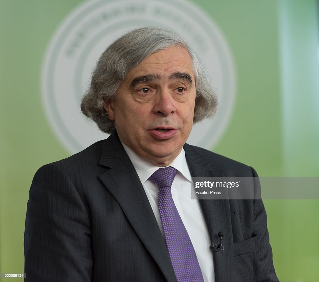U.S. Secretary of Energy <a gi-track='captionPersonalityLinkClicked' href=/galleries/search?phrase=Ernest+Moniz&family=editorial&specificpeople=7551550 ng-click='$event.stopPropagation()'>Ernest Moniz</a> talks during a panel entitle 'High-level event on Zero Emission Vehicles' at the COP21, United Nations Climate Change Conference in Paris. COP21 aimed to reach an international agreement limiting the greenhouse gas emissions and curtail climate change.