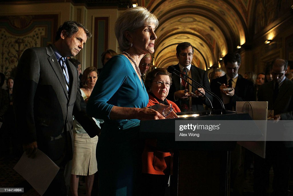 Sebelius Joins Senate Democrats Discussing The Impact Of GOP Budget