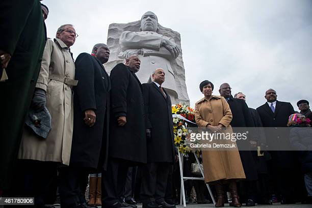 S Secretary of Homeland Security Jeh Johnson and DC Mayor Muriel Bowser along with Harry Johnson President and CEO of the Martin Luther King Jr...