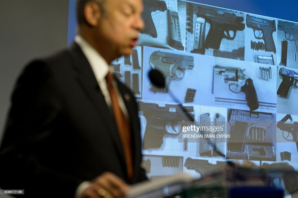 US Secretary of Homeland Security Jeh Johnson speaks during a state of the Department of Homeland Security speech at the Woodrow Wilson Center on February 11, 2016 in Washington, DC. / AFP / Brendan Smialowski