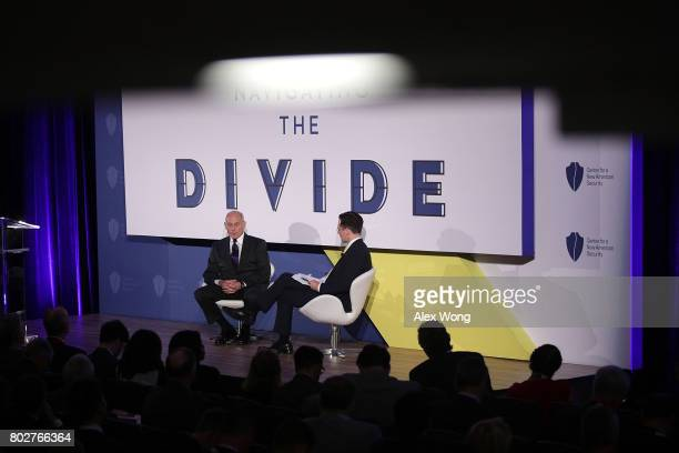 S Secretary of Homeland Security John Kelly participates in a discussion during the Center for a New American Security '2017 Navigating the Divide...