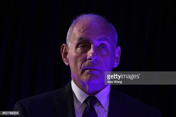 S Secretary of Homeland Security John Kelly waits to be introduced prior to his address to the Center for a New American Security '2017 Navigating...