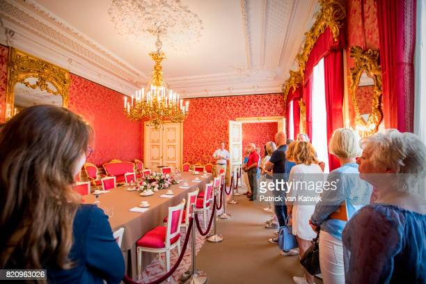 Secretary of King WillemAlexander of The Netherlands guides the public during the summer opening of Noordeinde Palace on July 22 2017 in The Hague...