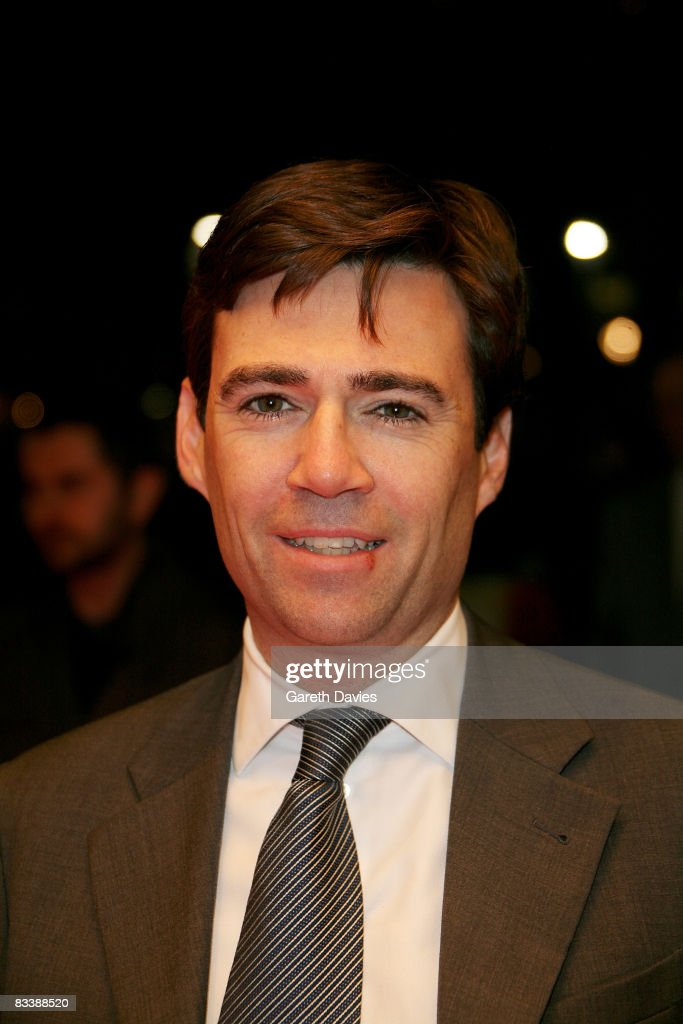 Secretary of State and Culture <a gi-track='captionPersonalityLinkClicked' href=/galleries/search?phrase=Andy+Burnham&family=editorial&specificpeople=469823 ng-click='$event.stopPropagation()'>Andy Burnham</a> attends the premiere of 'Genova' at the BFI 52nd London Film Festival held at the Odeon West End, Leicester Square on October 22, 2008 in London, England.