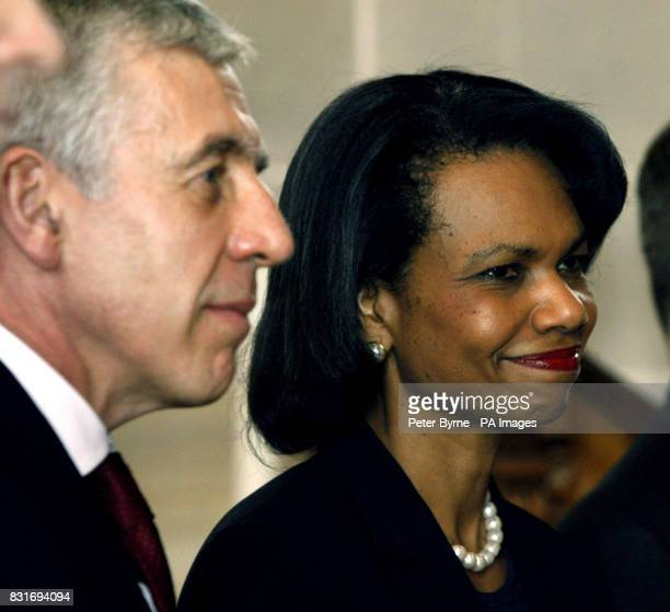 US Secretary of State Condoleezza Rice and Britain's Foreign Secretery Jack Straw at Blackburn Cathedral Saturday April 1st 2006 Dr Rice faced more...