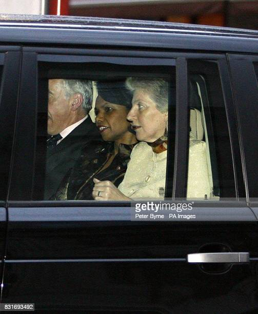 US Secretary of State Condoleezza Rice and Foreign Secretary Jack Straw arrive at Liverpool's Philharmonic Hall Liverpool Friday March 31 during Dr...