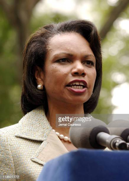 US Secretary of State Condoleezza Rice during US Secretary of State Condoleezza Rice Joins New York City Mayor Michael Bloomberg and Olympians at the...