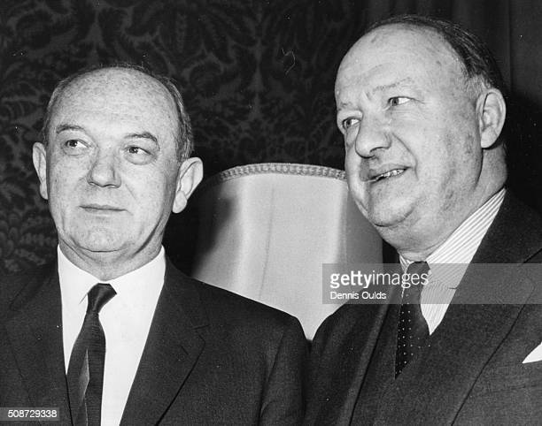 US Secretary of State Dean Rusk and British Foreign Secretary Rab Butler pictured meeting at the Foreign Office in London December 19th 1963
