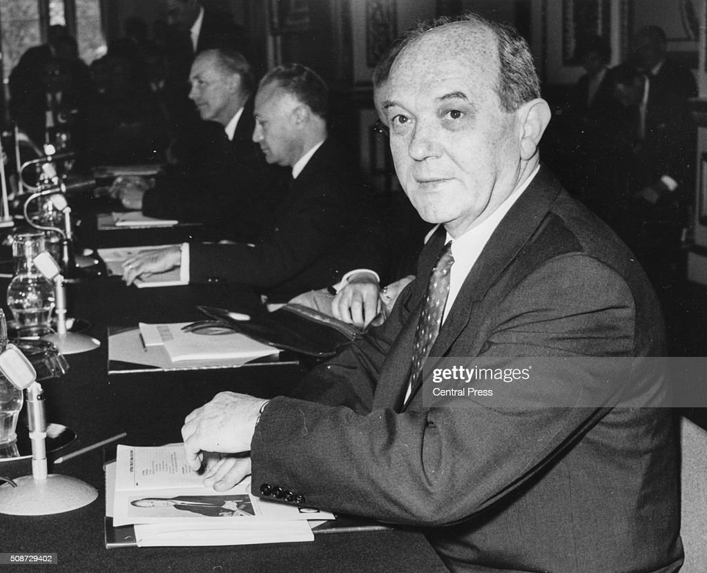 US Secretary of State Dean Rusk pictured at the opening session of the Ministerial Council at Lancaster House London April 30th 1962