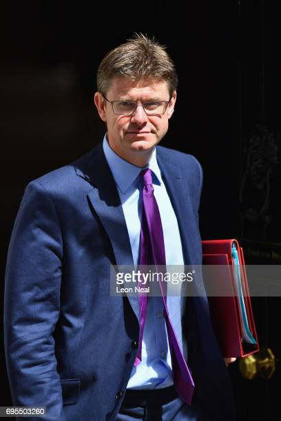 Secretary of State for Business Energy and Industrial Strategy Greg Clark arrives at Downing Street on June 13 2017 in London England The Prime...