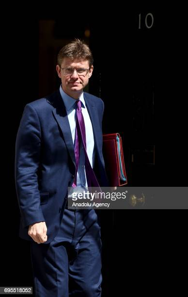 Secretary of State for Business Energy and Industrial Strategy Greg Clark departs Downing Street on June 13 2017 in London United Kingdom The Prime...