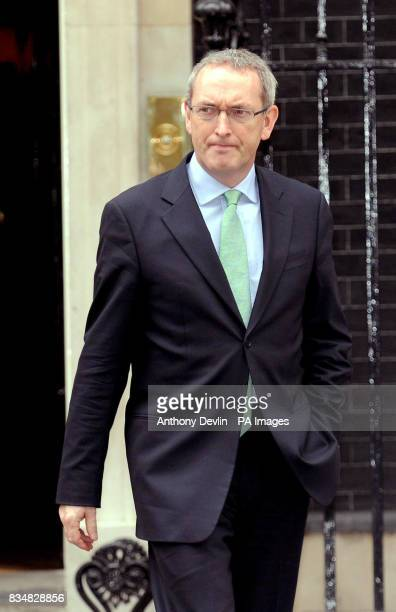 Secretary of State for Business Enterprise and Regulatory Reform John Hutton MP leaves Downing Street London