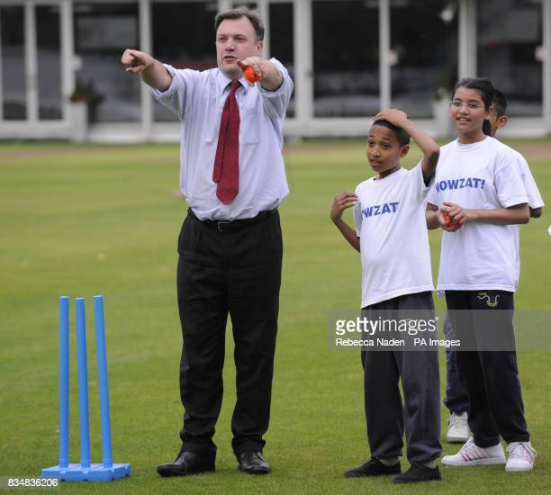 Secretary of State for Children Schools and Families Ed Balls during the launch of the Howzat campaign at Lord's Cricket Ground St John's Wood London