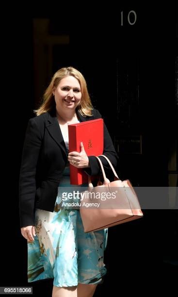 Secretary of State for Culture Media and Sport Karen Bradley departs Downing Street on June 13 2017 in London United Kingdom The Prime Minister has...