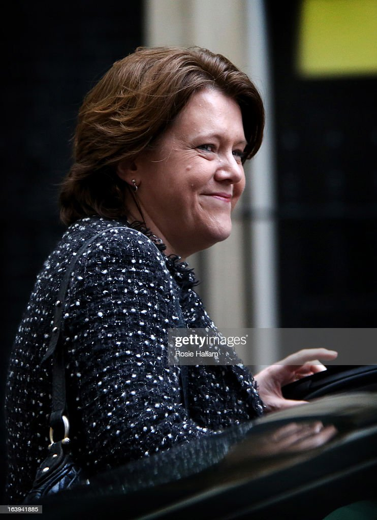 Secretary of State for Culture, Media and Sport <a gi-track='captionPersonalityLinkClicked' href=/galleries/search?phrase=Maria+Miller+-+Politician&family=editorial&specificpeople=12709152 ng-click='$event.stopPropagation()'>Maria Miller</a> leaves Downing Street for the Houses of Parliament.on March 18, 2013 in London, England. A Press regulation deal has been agreed today by Conservatives, Labour and Lib Dems following a call for reform in the wake of Lord Justice Leveson's inquiry into press ethics and phone hacking.