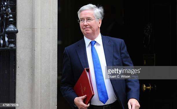 Secretary of State for Defence Michael Fallon departs 10 Downing street prior to The Chancellor of the Exchequer George Osborne presenting his...
