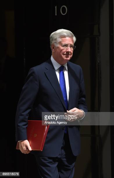 Secretary of State for Defence Michael Fallon departs Downing Street on June 13 2017 in London United Kingdom The Prime Minister has reshuffled her...