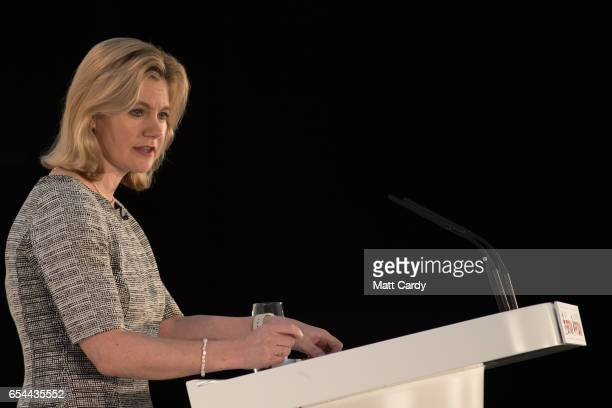 Secretary of State for Education Justine Greening speaks at the Conservative Spring Forum on March 17 2017 in Cardiff Wales In her speech the Prime...