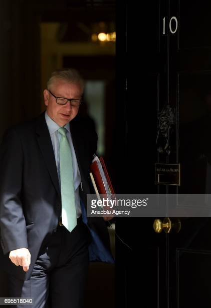 Secretary of State for Environment Food and Rural Affairs Michael Gove departs Downing Street on June 13 2017 in London United Kingdom The Prime...