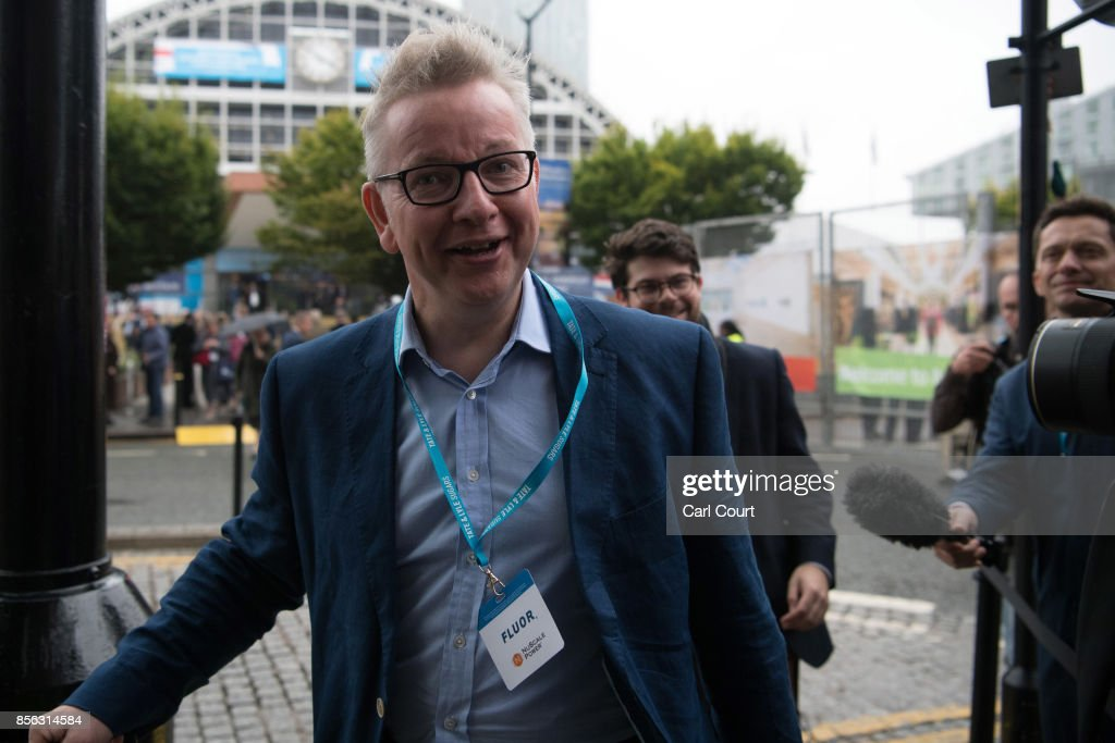 Secretary of State for Environment, Food and Rural Affairs, Michael Gove, arrives for the first day of the annual Conservative Party conference, October 1, 2017 in Manchester, England. Ministers and senior party members will address delegates throughout the day with a number of speeches discussing the party's plans for the next twelve months.