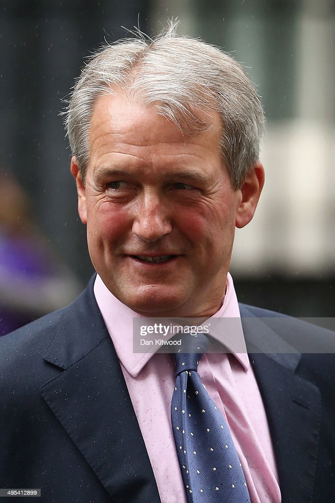Secretary of State for Environment Food and Rural Affairs Owen Paterson leaves 10 Downing Street after the weekly cabinet meeting on June 3 2014 in...