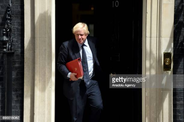 Secretary of State for Foreign and Commonwealth Affairs Boris Johnson departs Downing Street on June 13 2017 in London United Kingdom The Prime...